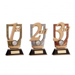1st, 2nd, 3rd Place Resin Trophies