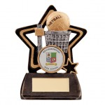 Resin Netball Trophies In Antique Gold And Black Coloured Finish