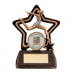 Resin Dance Trophies In Antique Gold And Black Coloured Finish
