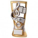 Resin Music Trophies In Antique Gold Coloured Finish