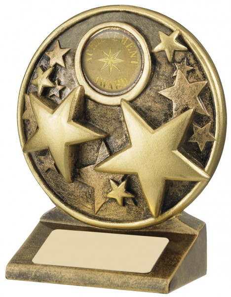 Resin Star Trophies In Antique Gold Coloured Finish 1