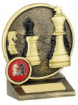 Resin Chess Trophies In Antique Gold Coloured Finish
