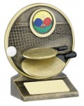 Resin Table Tennis Trophies in Antique Gold Coloured Finish