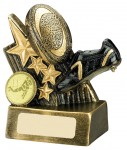 *SALE* Rugby Trophies Resin In Antique Gold Coloured Finish