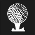 Golf Ball On Tee Logo