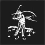 Golfer On Tee Logo 1