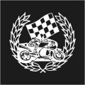 Motor Bike Wreath Winner Logo