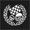 Racing Car Winner Logo