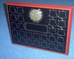 Wooden Annual Plaques With Black Brass Plate