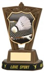 Plastic Badminton Trophies in Antique Gold Coloured Finish