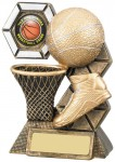 Resin Basketball Trophies in Antique Gold Coloured FInish