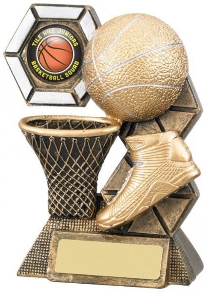 Resin Basketball Trophies in Antique Gold Coloured FInish 1