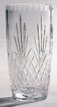 *SALE* Durham Crystal Vase With Panel For Engraving In White Cardboard Box