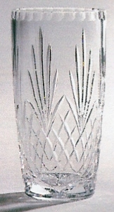 *SALE* Durham Crystal Vase With Panel For Engraving In White Cardboard Box 1