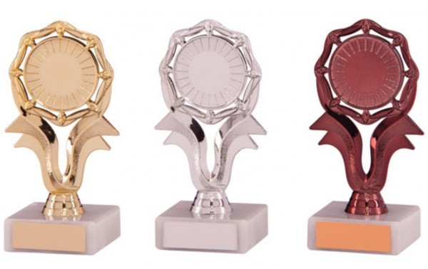 Centre Holder Trophies on White Marble Base  1