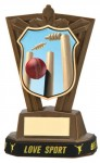 Plastic Cricket Trophies in Antique Gold Coloured Finish