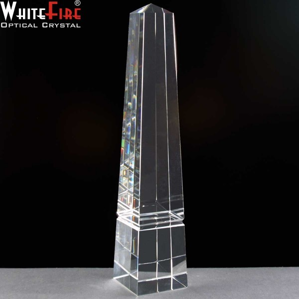Whitefire Nairn Column Crystal Awards Supplied In A Velvet Lined Presentation Case. Price Includes Engraving
