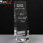 Whitefire Cairngorm Column Crystal Awards Supplied In A Velvet Lined Presentation Case. Price Includes Engraving.