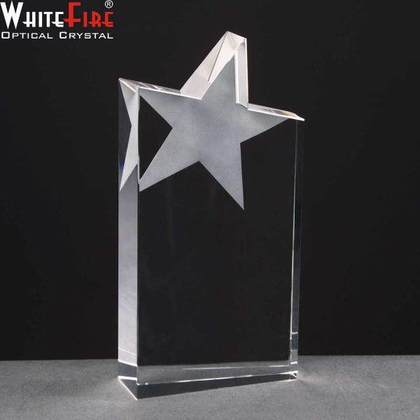 Whitefire Column Wedge Star Crystal Awards Supplied In A Velvet Lined Presentation Case. Price Includes Engraving
