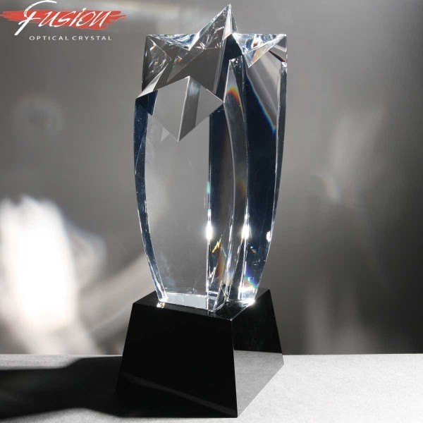 Shooting Star Fusion Crystal Awards Supplied In Velvet Lined Presentation Case. Price Includes Engraving