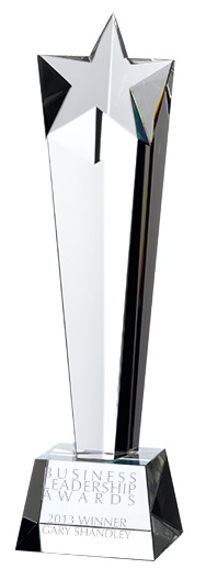 Star Column Crystal Awards Supplied In Presentation Box. Price Includes Engraving