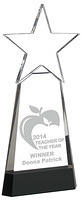 Crystal Awards With Star Supplied In Presentation Box. Price Includes Engraving