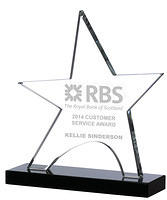 Star Shaped Crystal Awards Supplied In Presentation Box. Price Includes Engraving