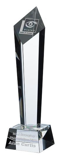 Column Crystal Awards Supplied In Presentation Box