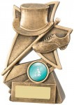 Resin Tap Dance Trophies In Antique Gold Coloured Finish