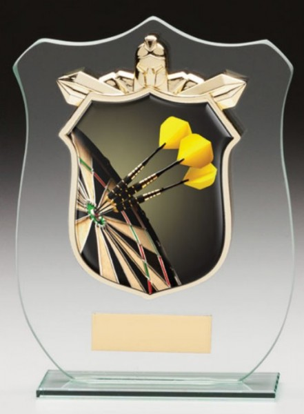 Glass Plaque With Darts Trim Centre 1