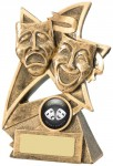 Resin Drama / Theatre Trophies in Antique Gold Coloured FInish