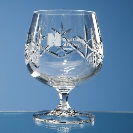Earle Crystal Brandy Glass With Panel For Engraving 1