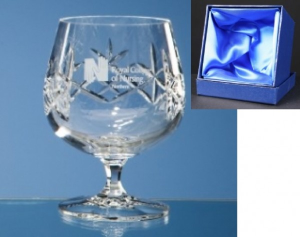 Earle Crystal Brandy Glasses x2 Supplied In Satin Lined Presentation Box 1
