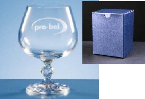 Claudia Brandy Glass In Blue Cardboard Box 1