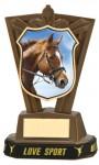 Plastic Equestrian Trophies in Antique Gold Coloured Finish