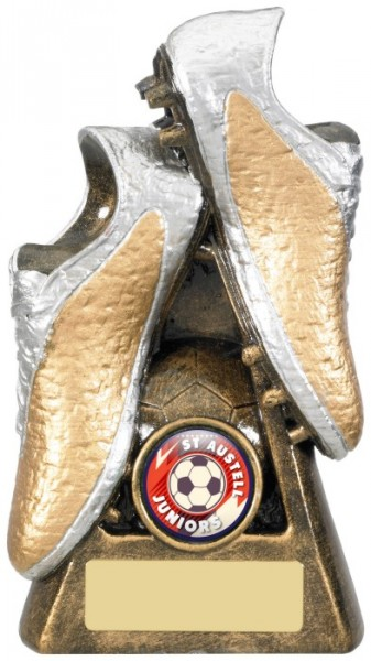 Resin Football Trophies in Gold and Silver Coloured Finish 1