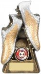 Resin Football Trophies in Gold and Silver Coloured Finish