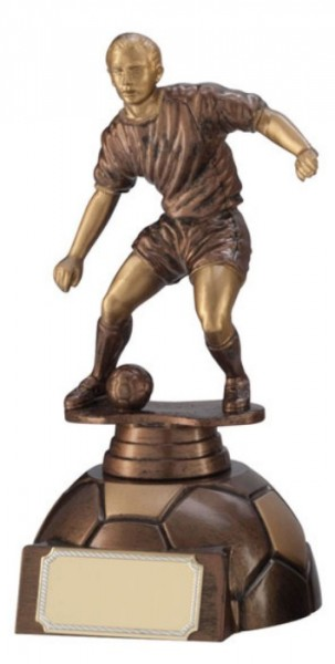 Football Trophies In An Antique Gold Coloured Finish 1