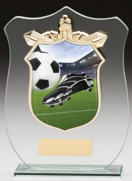 Glass Plaque with Football Trim Centre 1