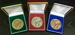 60mm Golf Medals In Brushed Suede Presentation Case