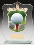 Glass Plaque With Golf Trim Centre