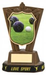 Plastic Lawn Bowls Trophies in Antique Gold Coloured Finish