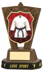 Plastic Martial Arts Trophies in Antique Gold Coloured Finish