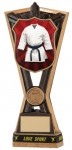 Resin Martial Arts Trophies in Antique Gold Coloured Finish
