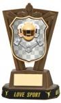 Plastic Motorsport Trophies in Antique Gold Coloured Finish