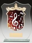Glass Plaque With Music Trim Centre