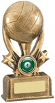 Resin Netball Trophies In Antique Gold Coloured Finish
