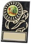 Black Plastic Plaques With Gold Trim Detail
