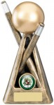 Resin Pool /Snooker Trophies in Antique Gold Coloured FInish