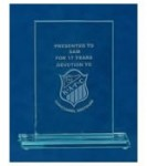 Rectangle Shaped Glass Awards Supplied In White Cardboard Box. Price Includes Engraving.